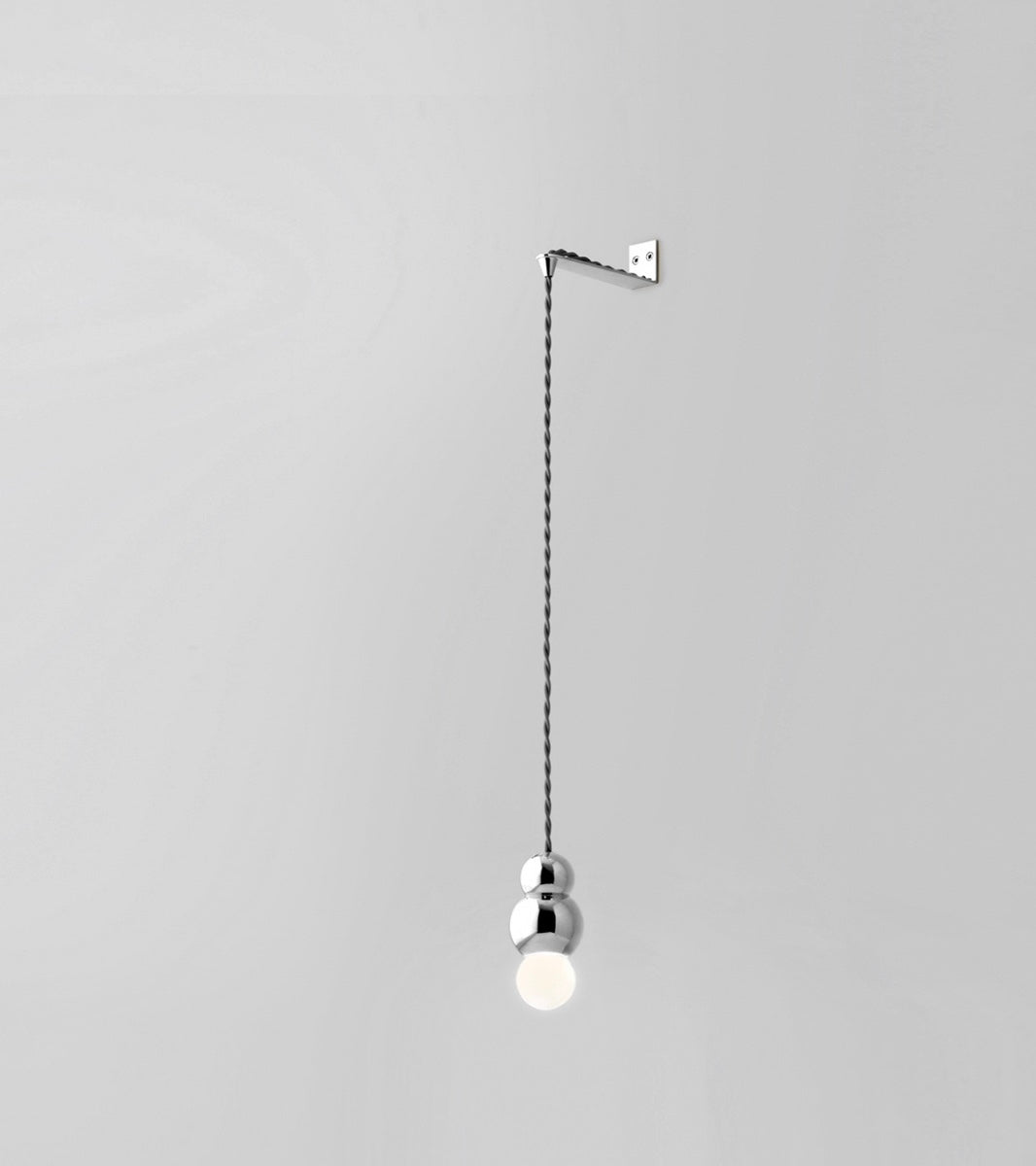 Ball Light Large Wall Bracket Flex Fitting in Black Patinated <br> by Michael Anastassiades