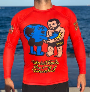 Open image in slideshow, WRISTLOCK THE WORLD Rashguard - Made in the USA