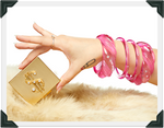 Load image into Gallery viewer, Luscious Lady - Lucite and Rhinestone Cuff