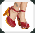 Load image into Gallery viewer, Amor y Muerte - New Candy Red Lizard Strap