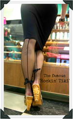 Load image into Gallery viewer, Rockin' Tiki - Black Leather Strap - luckyloushoes