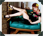 Load image into Gallery viewer, Rockin' Tiki - Black Leather/with Ankle Strap - luckyloushoes