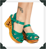 Load image into Gallery viewer, Pagoda - New Green Suede and Leather Strap
