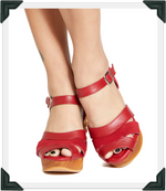 Load image into Gallery viewer, Pagoda Wedge - New Scarlette Suede and Leather Strap