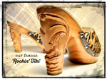 Load image into Gallery viewer, Rockin' Tiki - Brown Vegan Viper/with Ankle Strap