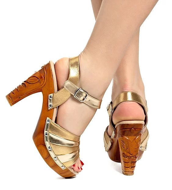 Rockin' Tiki - Gilda Gold/with Ankle Strap - luckyloushoes