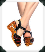Load image into Gallery viewer, Souvenir - Red Vegan Viper/with Ankle Strap - luckyloushoes