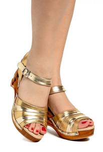 Souvenir - Gilda Gold/with Ankle Strap - luckyloushoes