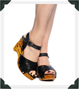 Souvenir - Black Leather/with Ankle Strap