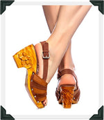 Load image into Gallery viewer, Daisy Jane Slingback - Brown Suede and Leather Strap - luckyloushoes