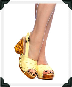 Daisy Jane Slingback - Butter Cream Leather Strap - luckyloushoes