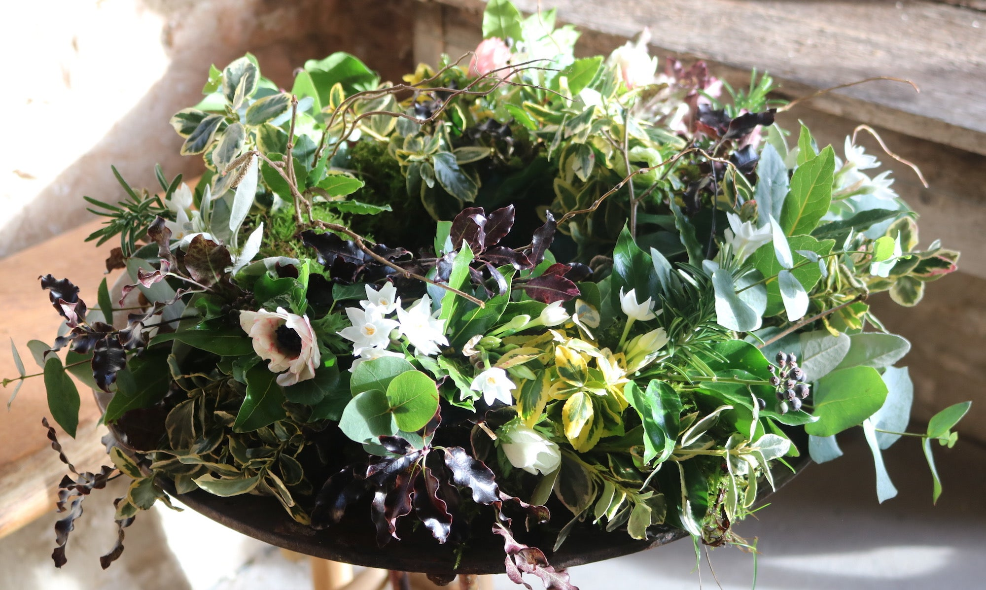 The Perfectly Eco Floral Wreath Common Farm Flowers