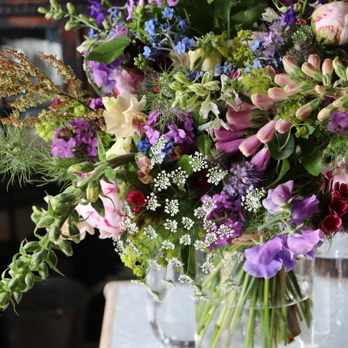 Sustainable British grown bouquets for collection from Common Farm Flowers