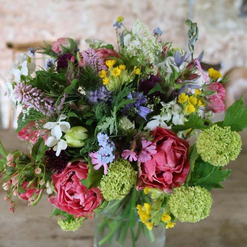 Sustainable British grown bouquets by post from Common Farm Flowers