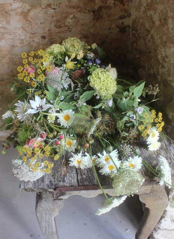 Funeral flowers from Common Farm Flowers