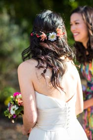 Bride's hair garland