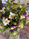 Our beautiful hand tied bouquets are a gorgeous mix of freshly cut British, eco friendly flowers, which we send by post. British grown hand tied bouquets from Common Farm Flowers.