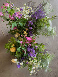 A DIY bucket of cut flowers sent by post, cut fresh from our flower farm in Somerset for you to arrange as you please. Perfect for DIY wedding flowers, parties, thank yous. Seasonal, eco flowers from Somerset florist Common Farm Flowers.