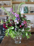 In this live online demo, Somerset florist and flower farmer Georgie Newbery will show you how to create a glorious hand tied bouquet with seasonal flowers and foliage she has cut fresh from her farm in Somerset. All welcome to enjoy this session, which aims to inspire you to try this for yourself!