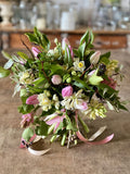 Join Georgie for this online demo, where she will show you how to make a posy for your valentine. Obviously Georgie will only be using the very best in seasonal British flowers, and encouraging you to do the same with your posy. Somerset florist and flower farmer, online floristry workshop.
