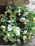 Pay tribute with a beautiful funeral wreath of seasonal, sustainably grown British flowers.  Lovingly created on our farm in Somerset with freshly picked blooms from our cut flower patch, this wreath is beautiful atop a coffin.