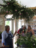 Enjoy a day at Common Farm Flowers learning eco flower skills - floristry without the nasties! Sustainable, natural floral designs on this fun day out at Common Farm Flowers in Somerset. Workshop led by eco flower farmer and sustainable florist Georgie Newbery.