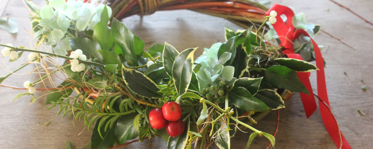 Christmas Willow Wreath from Common Farm Flowers