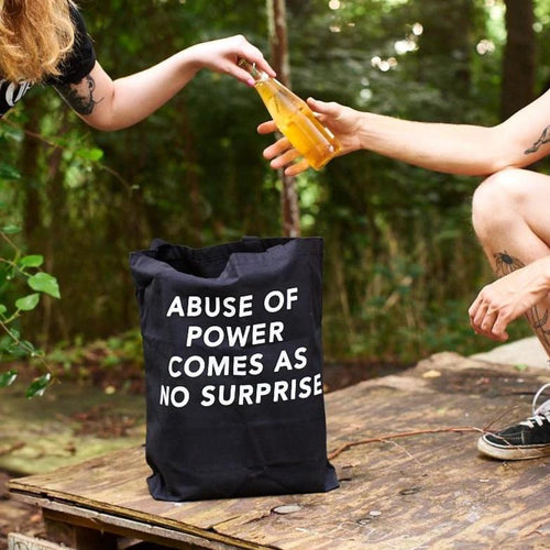Jenny Holzer // Abuse of Power Comes as No Surprise // Large Tote Bag