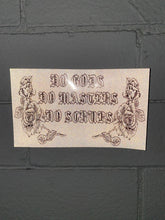 Load image into Gallery viewer, No Gods No Masters No Scrubs reflective vinyl sticker