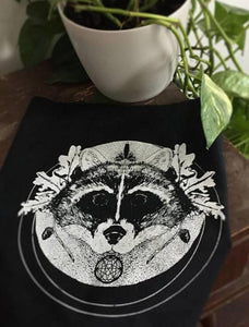 Raccoon Backpatch for Witches & Punks