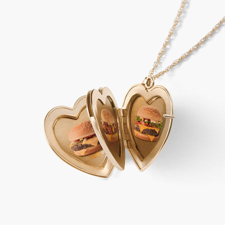 'Quarter Pounder with Love' Locket