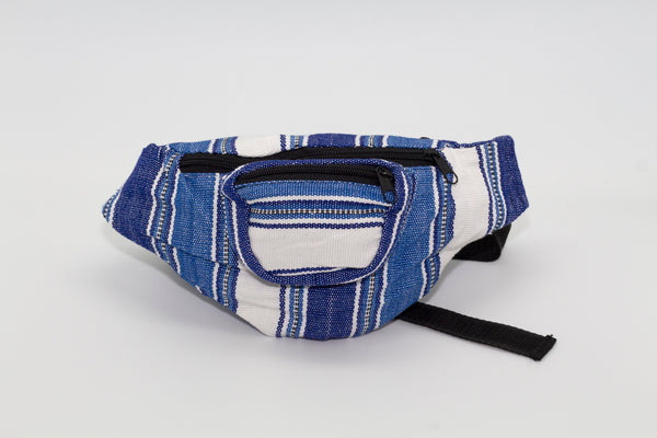 Unisex Blue and White Fanny Pack