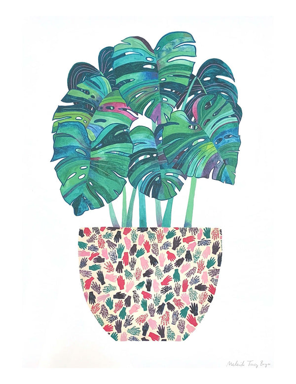 Monstera Pot Print