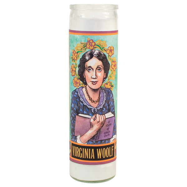 Virginia Woolf Secular Saints Candle