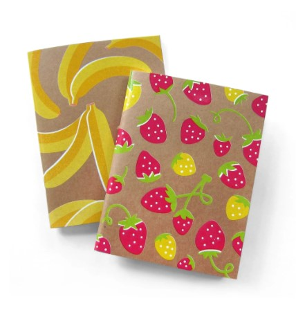 NMWA Banana + Strawberry Notebook Set