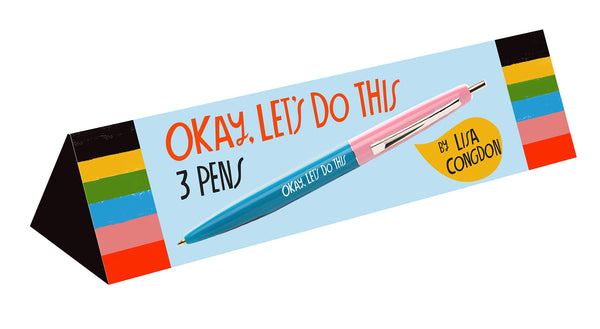 """Okay, Let's Do This"" Pen Set"
