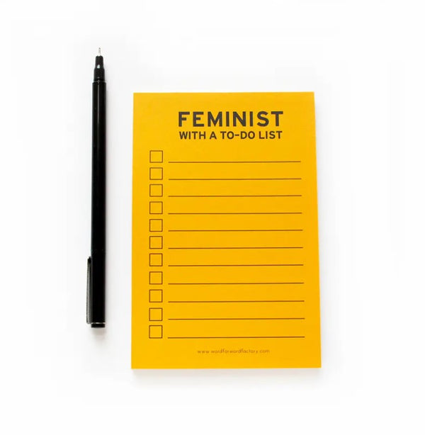 Feminist With A To-Do List notepads
