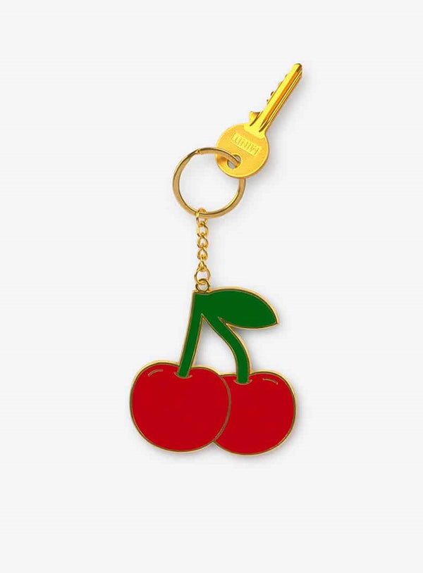 Oversized Cherry Keychain