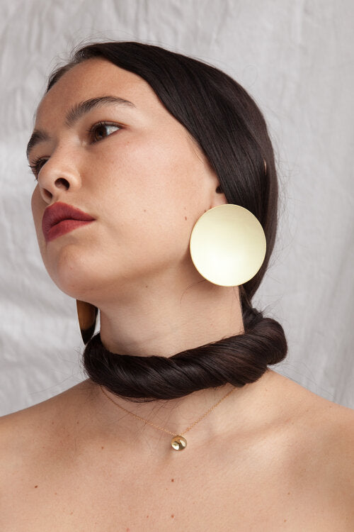 Full Grand Dome Earrings Gold