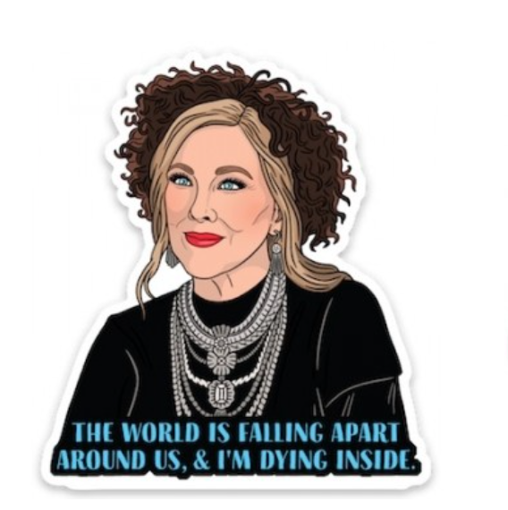 Moira Quote Sticker