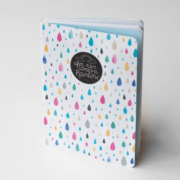 """After Rain Comes The Rainbow"" Hardcover Notebook"