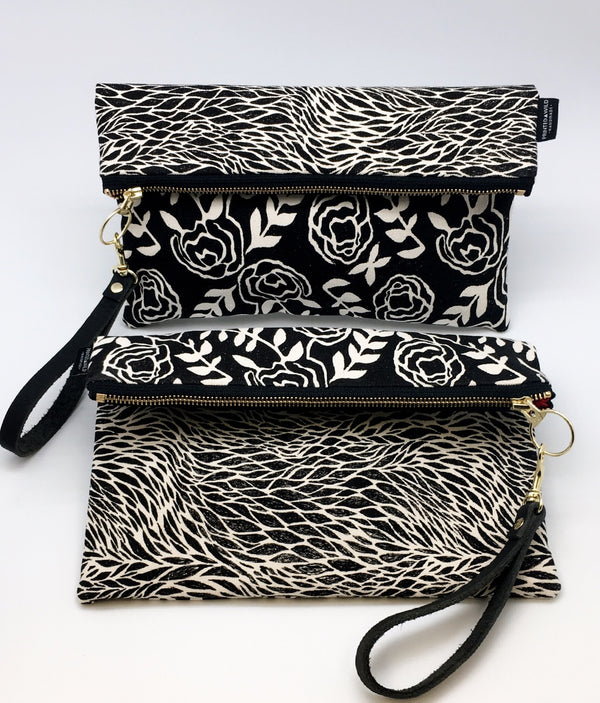 Limited Edition Printed Wild Large Foldable Clutch