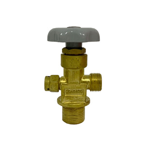 "CGA540 Oxygen Threaded Valve 1.125""12UNF"