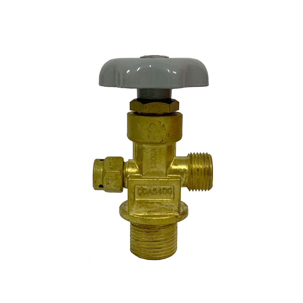 CGA540 Oxygen Threaded Valve 1.125