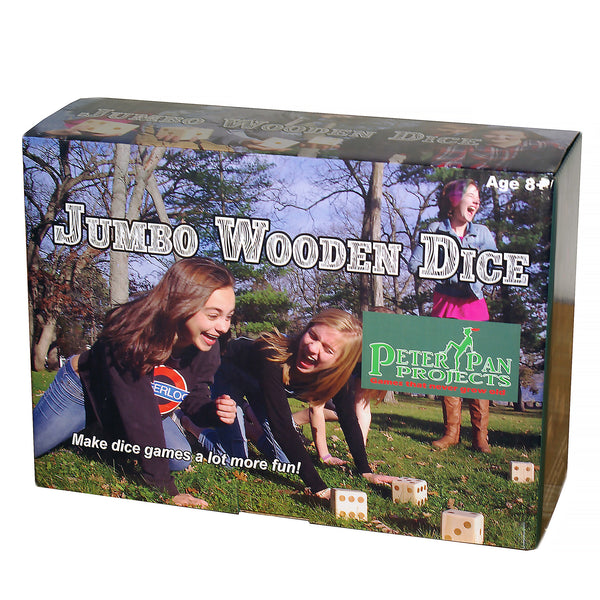 Peter Pan Projects Jumbo Wooden Dice