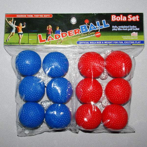 Ladderball Bolas 6 Pack, Red/Blue