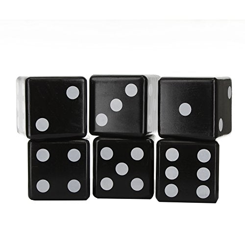Knight's Way Jumbo Wooden Dice, Black/White