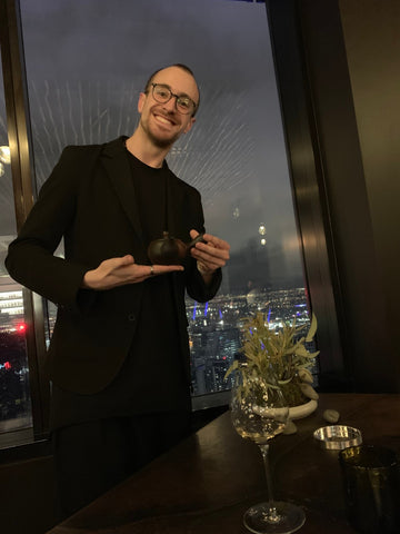 Thibaut Chuzeville tea sommelier at night