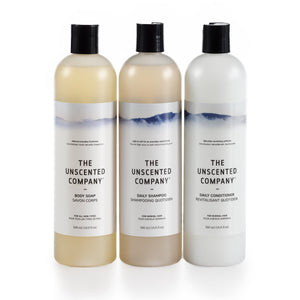 unscented trio corps et cheveux body and hair trio 500ml