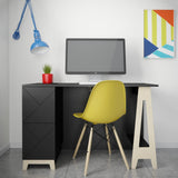Bureau avec tiroirs - collection Atypik by Nexera - Maison | Samara & Co